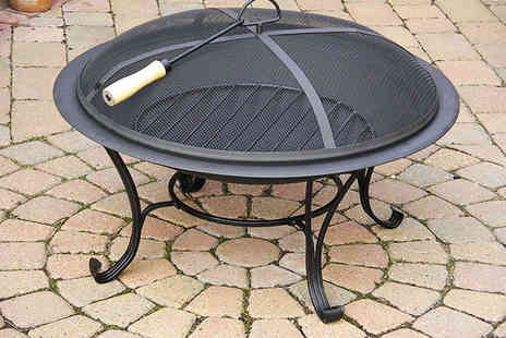 Garden Games - Black Outdoor Fire Pit with Classic Stand - Save 67%