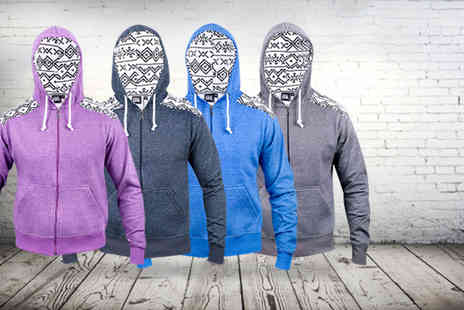 16sixty - Aztec print hoodie or sweatshirt in a choice of colours - Save 64%