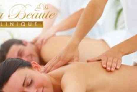 La Beaute Clinique - 80 Minute Hot Stone or Swedish Body Massage plus Head Massage For Two - Save 67%