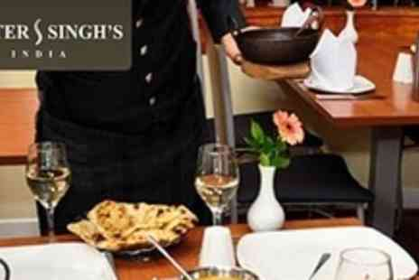 Mister Singhs - Two Courses of Indian Fare With Wine or Beer For Two - Save 60%