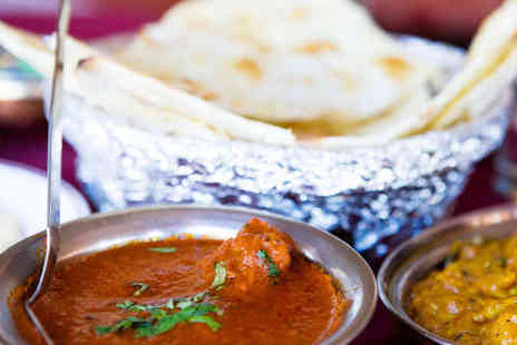 Jalsa - Popadom Starter Main Course and Rice Dish Each for Two People - Save 52%