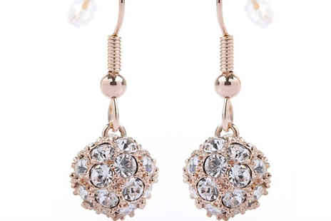 Sally Met Harry - White Fireball Drop Earrings - Save 57%