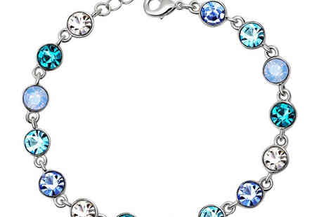 Sally Met Harry - Blue Crystal Ball Bracelet - Save 57%
