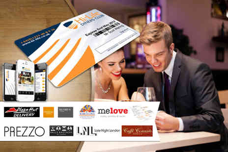 Hi-Life Diners Club - 12 month membership card plus DELIVERY INCLUDED - Save 50%