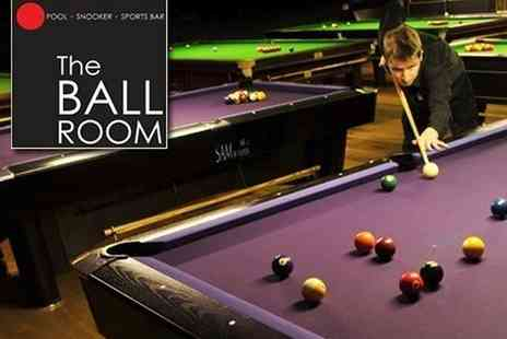 The Ball Room - Two hours of pool or snooker for two people - Save 50%