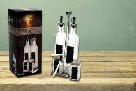 Irof Design - Five piece condiment set - Save 64%