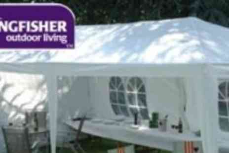 Kingfisher - Huge 3 metre x 6 metre Outdoor Party Tent Gazebo - Save 56%