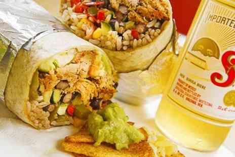 Burrito Cafe - Burrito and Beer For Two  - Save 50%