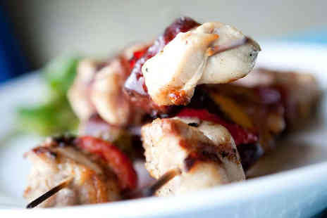 Caffe Sazz - Starter Main and Glass of Wine Each for Two - Save 52%