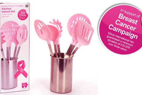 IROF Designs -  Breast cancer campaign 7 piece utensil set  - Save 55%