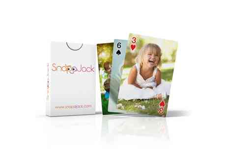 Snapajack - Two Packs of Personalised Playing Cards - Save 46%