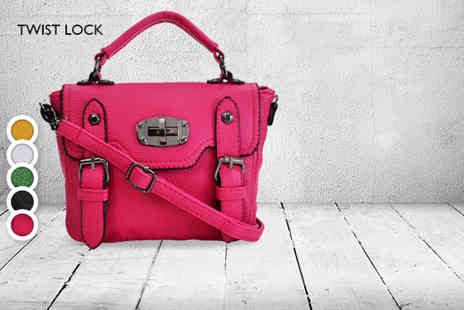 Shuperb Footwear - Faux leather look vintage Faye satchel bag in a choice of designs and colours