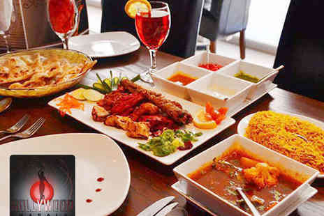 Bollywood Masala - Two Course Indian Meal with a Glass of Wine Each for Two - Save 60%