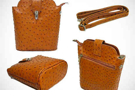 A-SHU - Ostrich Leather Bag in Choice of Colours - Save 44%