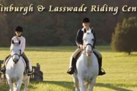 Edinburgh and Lasswade Riding Centre - One Hour Beginners Adult or Childrens Horse Riding Lesson - Save 62%