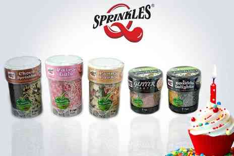 Quality Sprinkles - Five pots of edible sprinkles - Save 95%