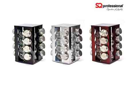 sqprofessional - Spice Rack and 16 Jars - Save 67%
