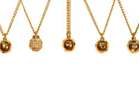 Sardi Designs - Encrusted Crystal Ball Necklace - Save 50%