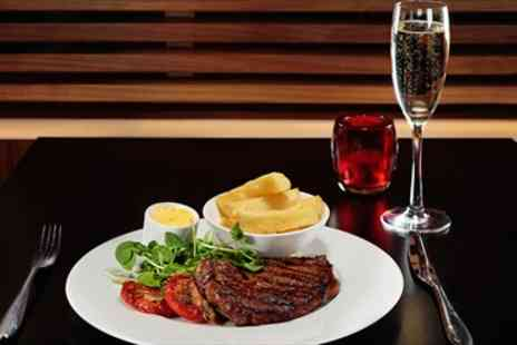 City Cafe - Steak Dinner for Two with Champagne - Save 55%