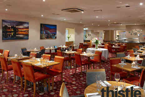 County Thistle Hotel - Two Course Sunday Lunch for Two - Save 54%