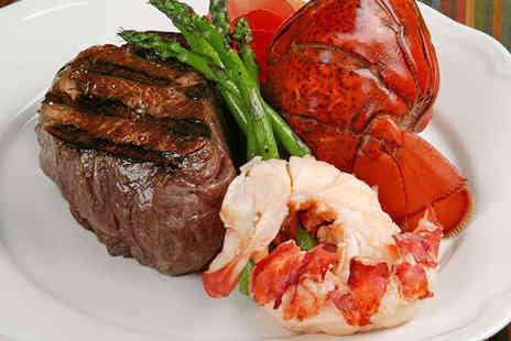 La Voss - Steak and Lobster Dinner with Glass of Prosecco Each for One  - Save 48%