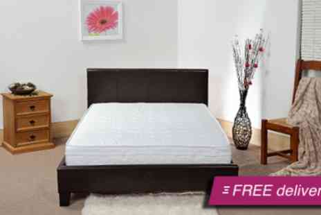 Visco Therapy - Faux leather double bed and memory  - Save 51%