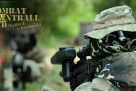 Combat Paintball - Paintballing Experience For One With Equipment Hire and 100 Balls Each - Save 59%