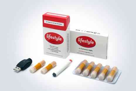 Lifestyle Cigarettes - Rechargeable Electronic Cigarette Starter Kit  - Save 92%
