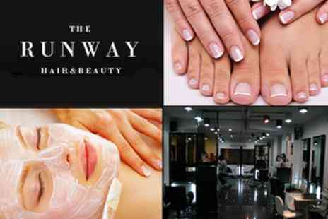 The Runway - £10 Choice of Massage, Dermalogica Facial, Mani or Pedi - Save 71%