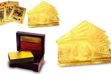 DK88 - Gold Plated Playing Cards - Save 76%