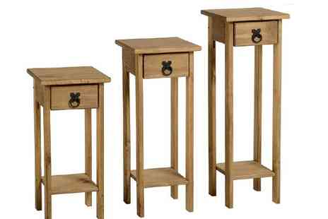 MK Furniture Stores - Set of Three Corona Plant Stands - Save 56%
