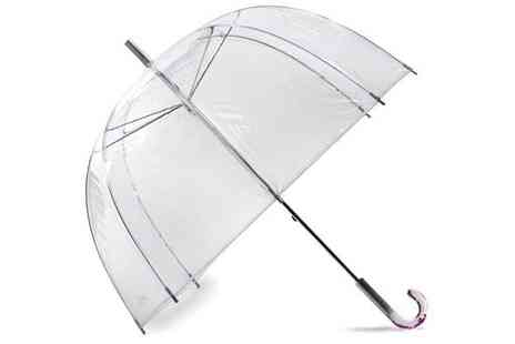 Flutterby Glam - Clear Dome Umbrella - Save 43%