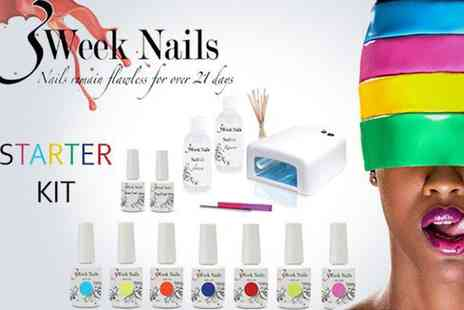3 Week Nails - Nail the look with a gel polish starter kit - Save 51%