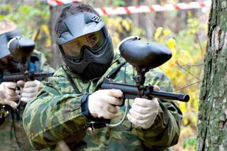 Hot Shots - Full Day of Paintballing With 100 Balls Each - Save 50%