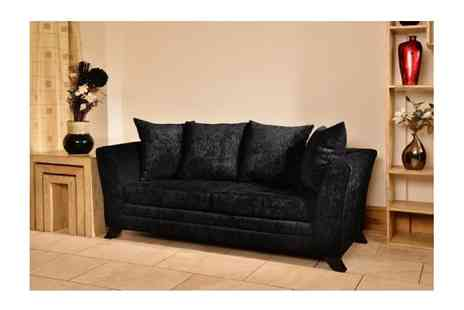 Furniture Deals - Warwick Fabric 2 Seater and 3 Seater Sofa Set - Save 64%