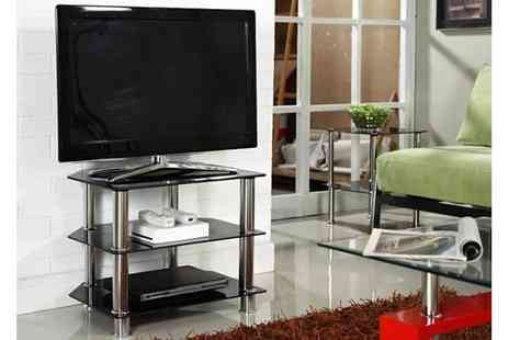 Furniture Detail - Black Glass TV Stand - Save 61%