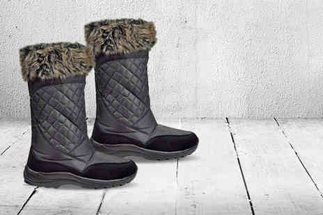 Derby House - Pair of faux fur trimmed Snoe Polar boots - Save 62%