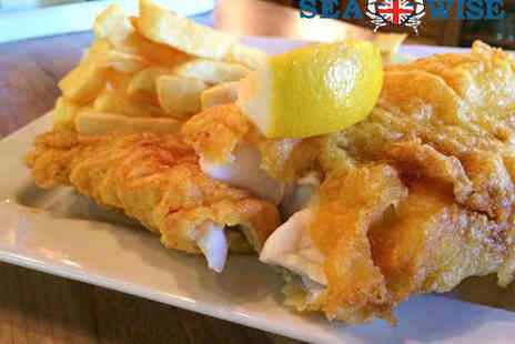 Seawise - Fish n Chips with Mushy Peas and Prosecco for One - Save 40%