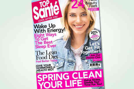 Top Sante - Seven Issue Subscription to Top Sante Magazine - Save 46%