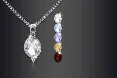 Zoo Jewellery - Sterling silver drop pendant including a gemstone in a range of colours - Save 76%