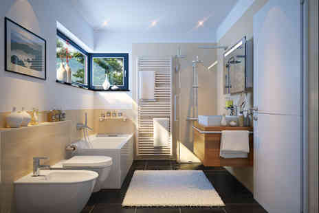 Haynes Bathrooms - Complete professional designer bathroom installation for a bathroom up to W3m x D3m x H2.5m - Save 38%