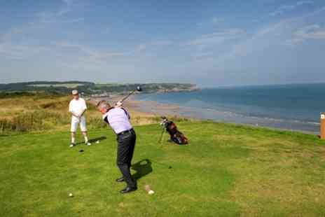 Whitby Golf Club - Round on an 18 hole course set on a clifftop for two - Save 63%