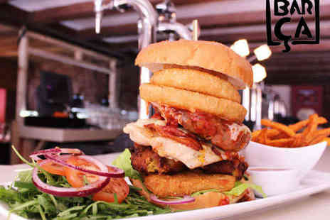 Barca Bar and Restaurant - Two Monster Burgers and Two Beers - Save 52%