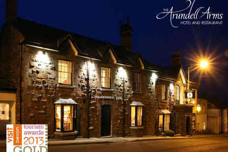 The Arundell Arms Hotel - One night Stay for Two People with Daily Full English Breakfast - Save 49%
