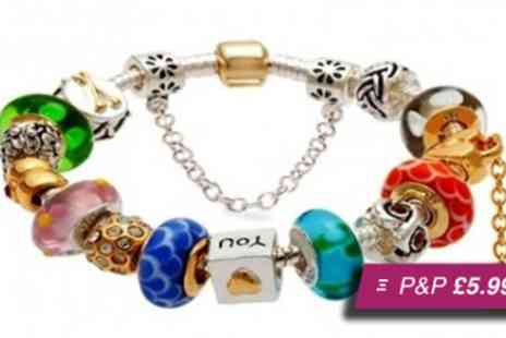 Russian Ice - Pandora inspired charm bracelet - Save 85%