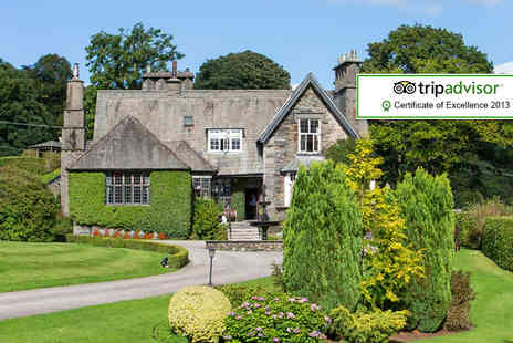 Broadoaks Country House - One night Lake District stay with dinner & spa access for 2 - Save 49%