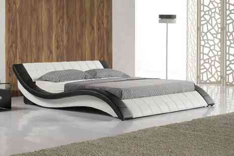 Furniture Detail - Cosmo faux leather double bed - Save 75%