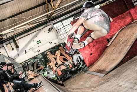 Bones 3 Skate Park - Rails Full Day Pass For Two - Save 65%