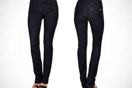 Ruby London - Straight Leg Jeans in Navy or Heritage Wash - Save 75%