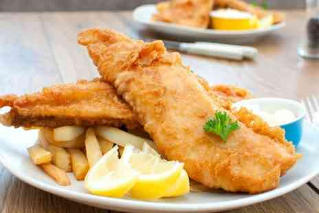 Micawbers Fish Bar and Restaurant - Fish And Chips With Hot Drink For Two  - Save 57%
